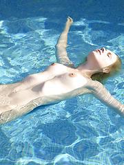 Young girl Maya relaxing in the water