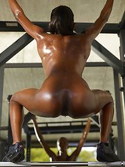 Young oiled black body needs to have a full workout - Erotic and nude girls pics at SoloTeenPics.com