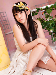 Tomoe Yamanaka Asian in white dress is beautiful like summer days - Erotic and nude girls pics at SoloTeenPics.com