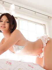 Tsubasa Akimoto Asian is such hot bunny on the house stairs - Erotic and nude girls pics at SoloTeenPics.com