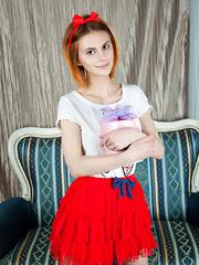 Blazing red hair