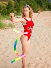 Sporty delicate girl