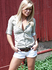 Wonderful girl Madden photo set near the barn