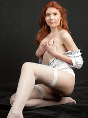 Orabelle evokes a naturally delightful presence as she strips her crisp white shirt and exhibits her fresh, young body with rosy, pink nipples and lush, untrimmed bush.  - Erotic and nude girls pics at SoloTeenPics.com