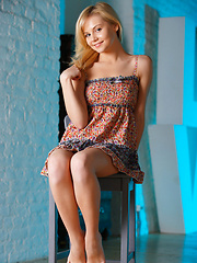 Adorable blonde darling Janice, with her petite yet lusty bod that captures the attention, along with a natural, amateur beauty, and sweet, innocent appeal.