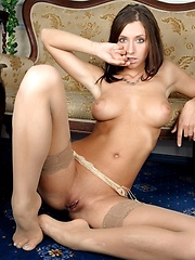 Simone wearing stockings and posing before camera - Erotic and nude girls pics at SoloTeenPics.com