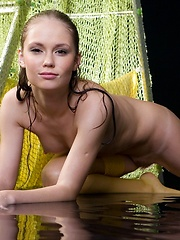 Cute russian girl Caesaria in wet stockings - Erotic and nude girls pics at SoloTeenPics.com