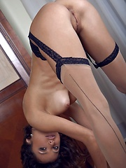 Exquisite charmer with flexible, tight body in sheer stockings. - Erotic and nude girls pics at SoloTeenPics.com
