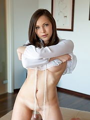 Chic and elegant vixen with great body, puffy breasts and alluring face. - Erotic and nude girls pics at SoloTeenPics.com