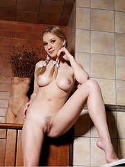 Candice B poses in a bathroom - Erotic and nude girls pics at SoloTeenPics.com