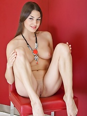 Lusty brunette in erotic poses and provocative smile. - Erotic and nude girls pics at SoloTeenPics.com