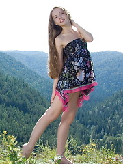 Beautiful girl Virginia Sun posing in nature and at home - Erotic and nude girls pics at SoloTeenPics.com