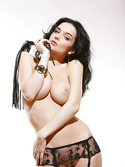 Jenya is naughty and wearing black, this week its her job to whip you into shape. - Erotic and nude girls pics at SoloTeenPics.com