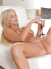 A chilled glass of champagne draws out the desire in busty blonde Marry Queen and sets her on a path to self-seduction - Erotic and nude girls pics at SoloTeenPics.com