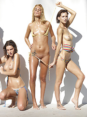 Oiled models posing in bikini - Erotic and nude girls pics at SoloTeenPics.com