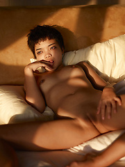 Short-haired beauty from Hegre Art - Erotic and nude girls pics at SoloTeenPics.com