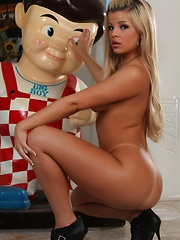 Adriana Sephora gives big boy a naughty show!