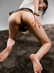 Oshima Karina posing in mini skirt - Erotic and nude girls pics at SoloTeenPics.com