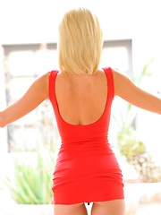 Heather blonde in red - Erotic and nude girls pics at SoloTeenPics.com