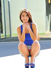 Megan is gorgeous in blue - Erotic and nude girls pics at SoloTeenPics.com