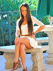 Randi is dressy in white - Erotic and nude girls pics at SoloTeenPics.com