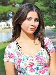 Eliana and the flowery dress - Erotic and nude girls pics at SoloTeenPics.com