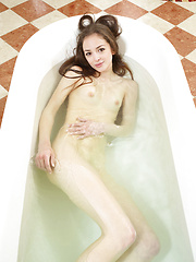 Mirabell is having fun while take a bath. Why dont you take a look?