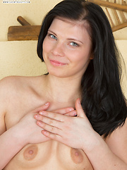 The dark haired beauty always has something new to share with her friends. Today she plays a naughty game with fantasy.