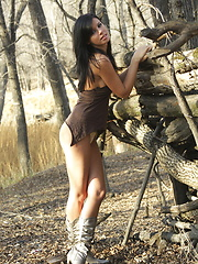 Gorgeous Destiny Moody gets a little tied up exploring an old Indian fort - Erotic and nude girls pics at SoloTeenPics.com