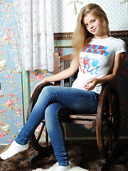 Slender teen girlfriend make the day brighter with her bewildering outlook. Slim, doll like, beautiful, perfect.