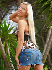 Dido A the tempting Tigress dressed in a sexy leopard top and denim mini skirt. She is the queen of the jungle. - Erotic and nude girls pics at SoloTeenPics.com