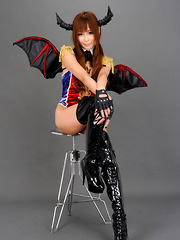 Sayuri Ono Asian in long boots is batwoman waiting for victims - Erotic and nude girls pics at SoloTeenPics.com