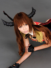 Sayuri Ono Asian is warrior in long boots exposing naughty bum - Erotic and nude girls pics at SoloTeenPics.com