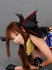 Sayuri Ono Asian is warrior in long boots exposing naughty bum - Erotic and nude girls pics at SoloTeenPics.com