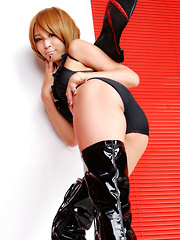 Sayuri Ono Asian is dangerous batwoman in high heels long boots - Erotic and nude girls pics at SoloTeenPics.com