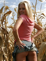 Blonde tease Skye Model lifts her skirt and shows her ass in a tiny thong - Erotic and nude girls pics at SoloTeenPics.com