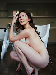 Lukki Lima showcases her long, sensual legs with porcelain skin, pink and puffy nipples, and round butt - Erotic and nude girls pics at SoloTeenPics.com