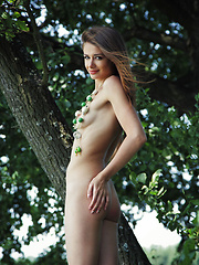 Loretta A bares her body in an outdoor shoot by the lake - Erotic and nude girls pics at SoloTeenPics.com