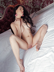 Valeria A with smooth porcelain skin, perfectly round tits, and sprawling long legs. - Erotic and nude girls pics at SoloTeenPics.com