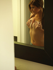 Wall Mirror - Erotic and nude girls pics at SoloTeenPics.com