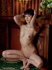 Alluring and tempting with seductive   face framed by well-cropped bangs,   poses sensually showcasing Luiza\'s   athletic build, enviable long limbs,   and perky nipples. - Erotic and nude girls pics at SoloTeenPics.com