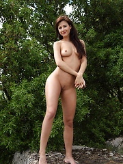 Luce takes refuge from the midday\'s sun   scorching heat under the cool shade of a   tree and shamelessly flaunts her   perfectly luscious body in front of the   camera. - Erotic and nude girls pics at SoloTeenPics.com