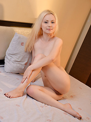 Gorgeous Nubile plays with her silky and sweet pink pussy
