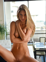 Gorgeous Ebbi strips her clothes to reveal her mouthwatering naked body - Erotic and nude girls pics at SoloTeenPics.com