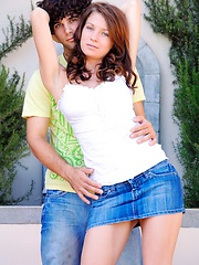 Gabby plays with her date - Erotic and nude girls pics at SoloTeenPics.com