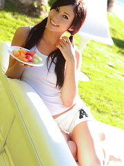 A summertime display of Catie Minx's sweet and juicy summer fruit