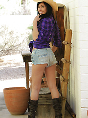 Saddle up boys! Cowgirl Catie Minx is looking for something big to ride tonight! - Erotic and nude girls pics at SoloTeenPics.com