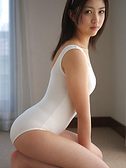 Azusa Togashi Asian doll in white bath suit wants to go outside - Erotic and nude girls pics at SoloTeenPics.com