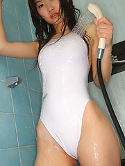 Noriko Kijima Asian spoils lustful curves with water on lingerie - Erotic and nude girls pics at SoloTeenPics.com