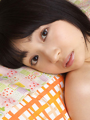 Kotone Moriyama Asian rubs her vagina in bath suit of chair edge - Erotic and nude girls pics at SoloTeenPics.com